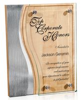 194511792-182 - Trio Wave Stainless Plaque - thumbnail