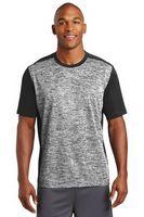 955297889-120 - Sport-Tek® PosiCharge® Electric Heather Colorblock Tee Shirt - thumbnail