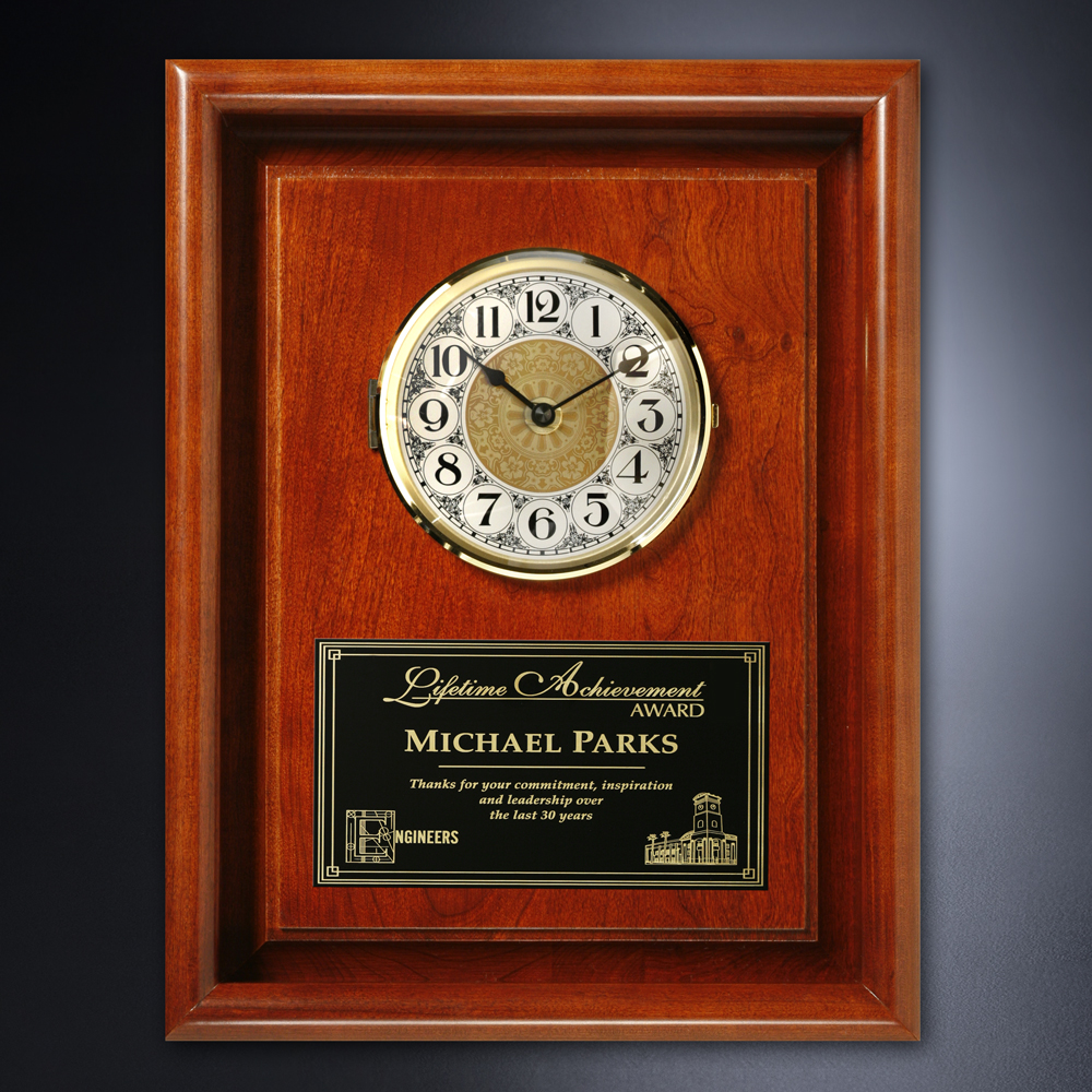 "922865335-133 - Americana Framed Wall Clock 10"" x 13"" - thumbnail"