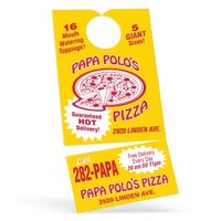 174294353-183 - Door Hanger w/ Business Card Magnet - 10 Point Card Stock/30% Recyclable - thumbnail