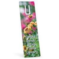 """342861514-183 - Recycled Rectangle Vinyl Plastic Bookmark w/ Slot (0.015"""" Thick) - thumbnail"""