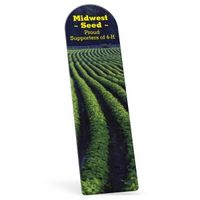 "554675663-183 - Full Color Recycled Arch Vinyl Plastic Bookmark w/out Slit (0.015"" Thick) - thumbnail"