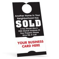 "70564591-183 - Door Hanger w/ Business Card (3 1/2""x6 3/4"") White 10 Point Card Stock - thumbnail"