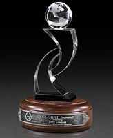 134228830-182 - Medium Optic Globe I Crystal Award - thumbnail