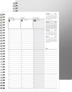 "153319055-197 - WeeklyOrganizer™ w/Alloy Front & Chip Back (7""x10"") - thumbnail"