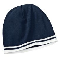 102091211-120 - Port Company® Fine Knit Skull Cap w/Stripes - thumbnail