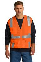 176377412-120 - CornerStone® ANSI 107 Class 2 Mesh Six-Pocket Zippered Vest - thumbnail
