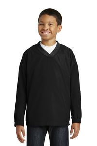 182914358-120 - Sport-Tek® Youth V-Neck Raglan Wind Shirt - thumbnail