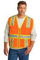 196377452-120 - CornerStone® ANSI 107 Class 2 Surveyor Zippered Two-Tone Vest - thumbnail