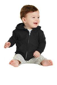 304529086-120 - Port & Company® Infant Core Fleece Full-Zip Hooded Sweatshirt - thumbnail