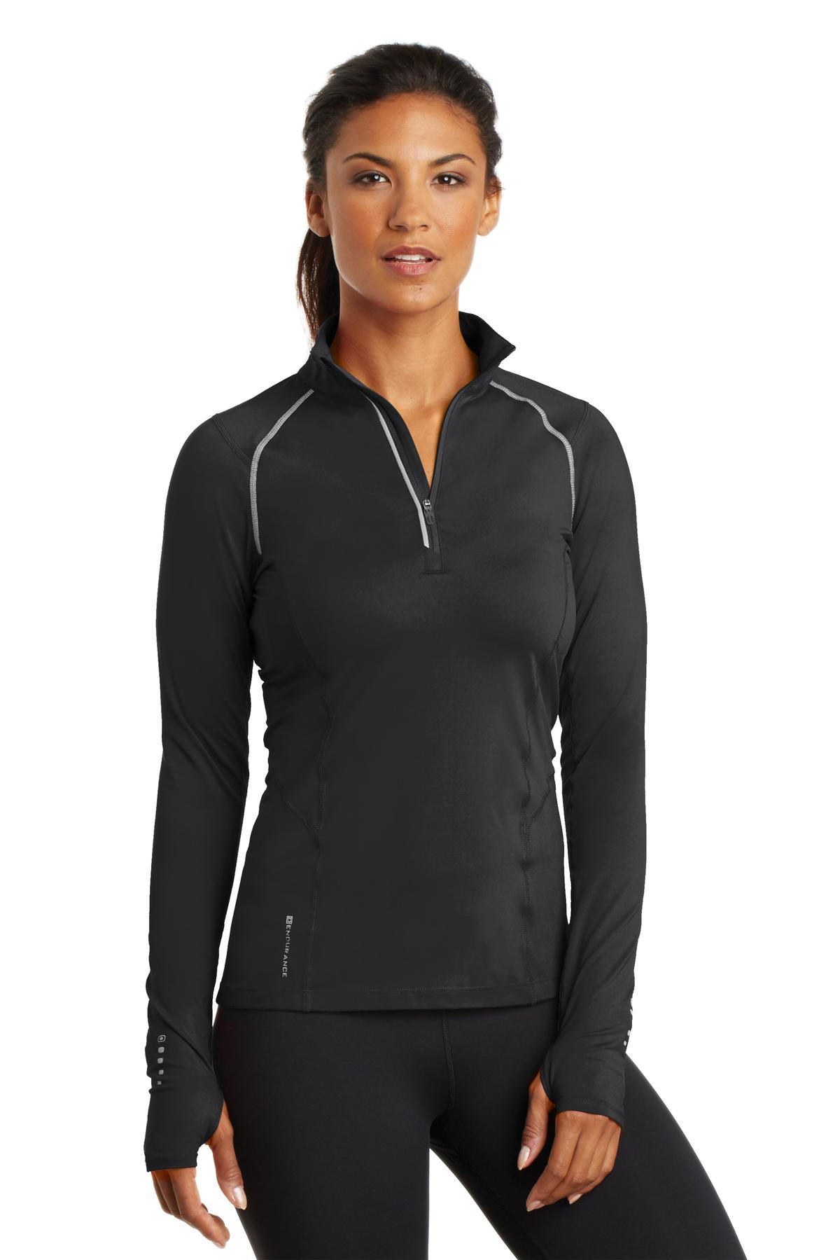364691272-120 - OGIO® ENDURANCE Ladies' Nexus 1/4-Zip Pullover Shirt - thumbnail