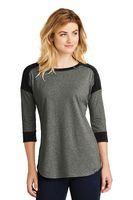 955491225-120 - New Era® Ladies' Heritage Blend 3/4 Sleeve Baseball Raglan Tee Shirt - thumbnail