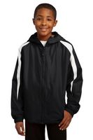 963707805-120 - Sport-Tek® Youth Fleece-Lined Colorblock Jacket - thumbnail