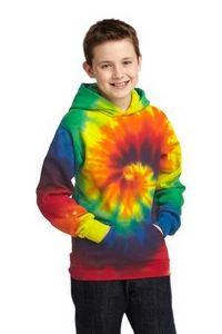 994529015-120 - Port & Company® Youth Tie-Dye Pullover Hooded Sweatshirt - thumbnail