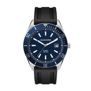 "156501815-184 - Wc8236 42mm Steel Silver Case, 3 Hand ""Automatic"" Mvmt, Blue Dial, Dte Display, Bl Rotating Bezel, S - thumbnail"