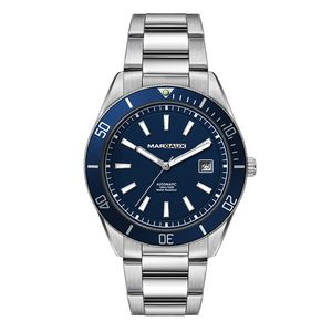 """186501820-184 - Wc8246 42mm Steel Silver Case, 3 Hand """"Automatic"""" Mvmt, Blue Dial, Dte Display, Bl Rotating Bezel, S - thumbnail"""