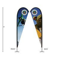 396252615-184 - DisplaySplash 9' Double-Sided Custom Teardrop Flag - thumbnail