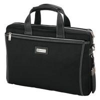 725815235-184 - Forli Throw Leather/Nylon Briefcase - thumbnail