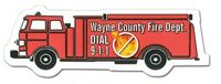 132255968-819 - Fire Truck Stock Shape Magnet (Full Color Digital) - thumbnail