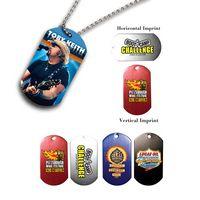 "142868041-819 - Metal Dog Tag w/ 4 1/2"" Chain (Full Color Digital) - thumbnail"