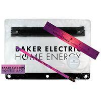 154324800-819 - Clear Translucent Mood School Kit w/ Pencil, Ruler, Eraser & Sharpener - thumbnail