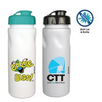 156340148-819 - 24 oz. Antimicrobial Cycle Bottle with Flip Top Cap, Full Color Digital - thumbnail