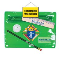 "332867688-819 - Premium Translucent School Kit w/ Pencil, 6"" Ruler, Eraser & Sharpener (Full Color Digital) - thumbnail"