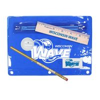 "342135344-819 - Premium Translucent School Kit w/ Pencil, 6"" Ruler, Eraser & Sharpener (Spot Color) - thumbnail"