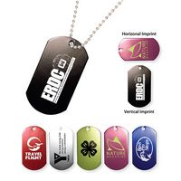 "742558576-819 - Metal Dog Tag w/ 23 1/2"" Chain (Spot Color) - thumbnail"