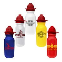 745037634-819 - 20 Oz. Value Cycle Bottle w/ Fireman Helmet Push 'n Pull Cap - thumbnail