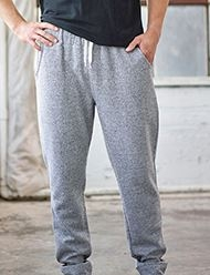 165920854-132 - J AMERICA Adult Peppered Fleece Jogger - thumbnail