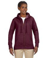 314361052-132 - Econscious Ladies' 7 Oz. Organic/Recycled Heathered Fleece Full-Zip Hoodie - thumbnail