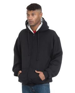 716342548-132 - BAYSIDE Adult Super Heavy Thermal-Lined Full-Zip Hooded Sweatshirt - thumbnail