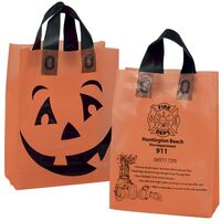 16608905-185 - Pumpkin Frosted Shopper Halloween Bag - thumbnail