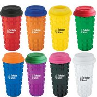 134041021-202 - Sili Square Ceramic Tumbler 16 oz and silicone grip - thumbnail