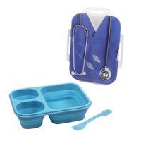 193866213-202 - Gourmet Trio Silicone 3 Compartment Lunch Box - thumbnail