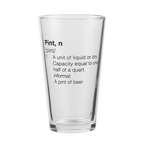 394859385-202 - 16 oz Glassic Tapered Pint Glass - thumbnail