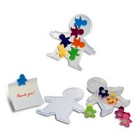 562593960-202 - People Clips - Acrylic box with body shaped magnetic clips - thumbnail