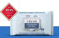 746324639-202 - Alcohol Wet Wipes - 40 Soft pack - thumbnail