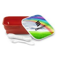 795079962-202 - Gourmet 2 Plastic Lunch Box and Utensils 5.75 x 7 - thumbnail