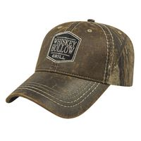 174278914-812 - Faux Leathered Poly/Cotton Camo Cap - thumbnail