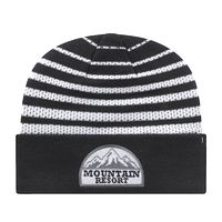 714917132-812 - Mesh Knit Cap w/Alternating Bands of Mesh & Solid Texture - thumbnail