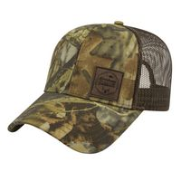 961475558-812 - Solid Color Mesh Back Camo Cap - thumbnail