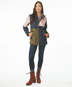 136167458-141 - Women's Color Block New Englander® Rain Jacket - thumbnail
