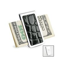 522568433-114 - Chrome Finish Croco Insert Money Clip - thumbnail