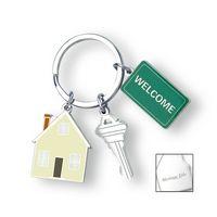 92941210-114 - Home Sweet Home Charm Key Ring - thumbnail