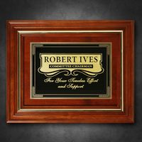 """112865264-133 - Americana Plaque 15-3/4"""" x 12-3/4"""" with Wood Insert - thumbnail"""