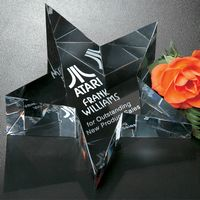 """181123348-133 - Slanted Star Paperweight 5"""" W - thumbnail"""