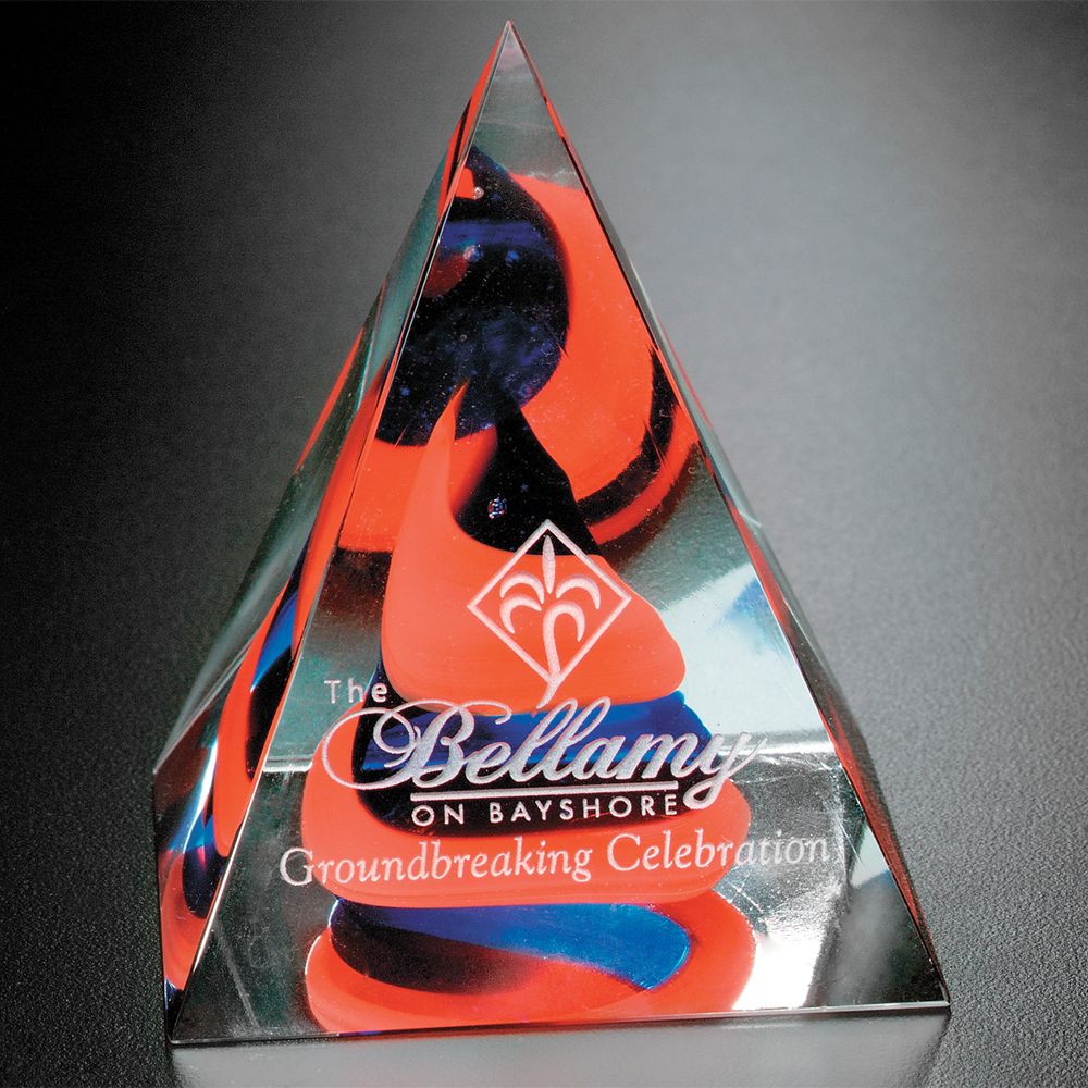 "352058496-133 - Swirl Pyramid - Red/Blue 4"" - thumbnail"