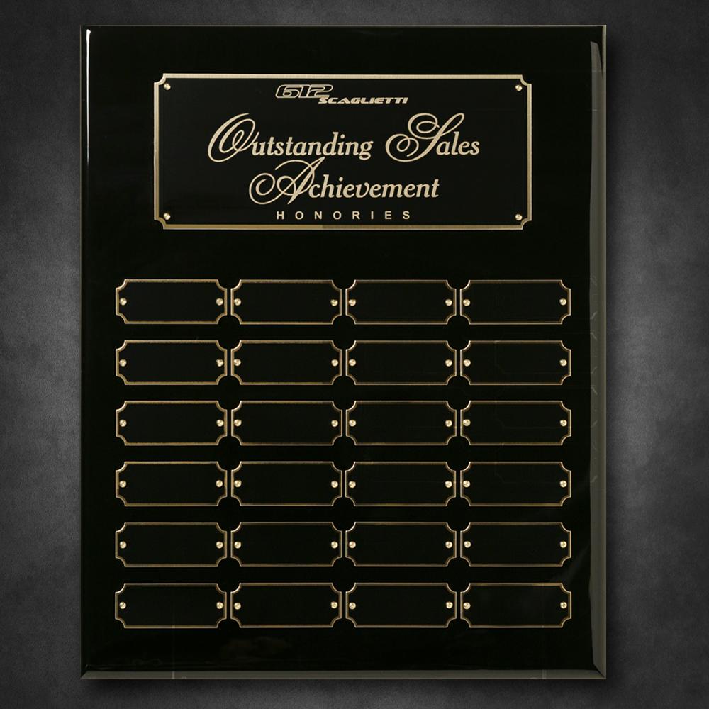 "703102194-133 - Black Piano Finish Perpetual Plaque 12"" x 15"" - thumbnail"